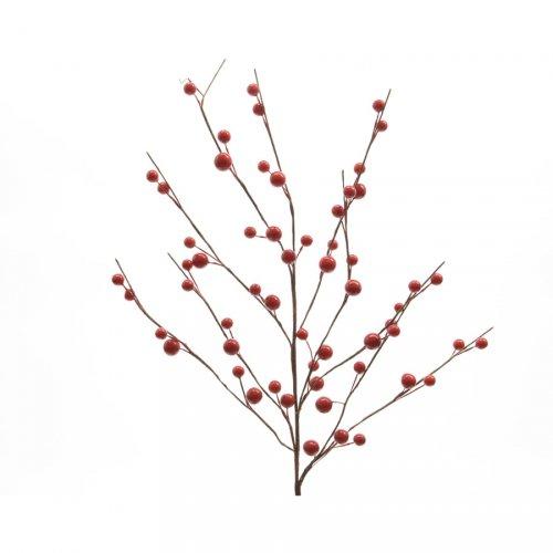Branche de Baies rouges (55 cm)