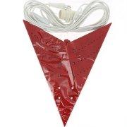 Lampe Etoile Papier Rouge Arabesques (60 cm)