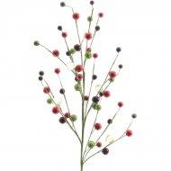 Branche de Baies et Perles Rouge/Vert (60 cm)
