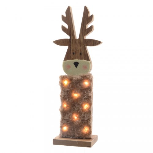 Déco Lumineuse Renne à LED (36 cm) - Bois