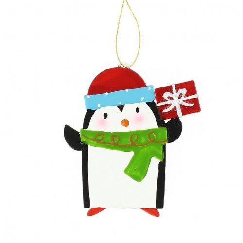 Suspension Pingouin à plat (10 cm) - Plastique