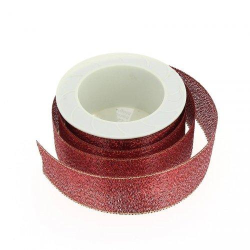 Ruban Rouge Glitter N°1