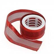 Ruban medium Rouge Glitter N°2