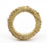 Couronne de Noël Nature Géante (50 cm) - Paille