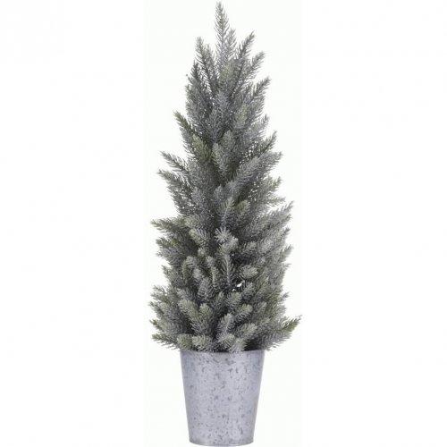 Mini Sapin Enneigé (30 cm) - Pot Zinc