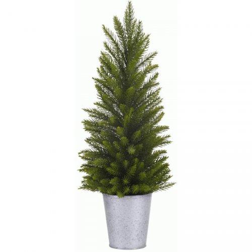 Mini Sapin Vert Nature (30 cm) - Pot Zinc