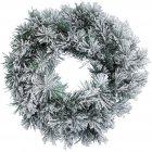 Couronne de Noël Sapin Enneigé (50 cm) - Artificiel