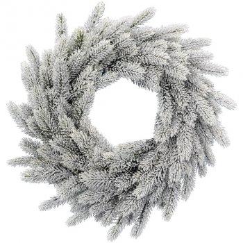 Couronne de Noël Sapin Glacé (50 cm) - Artificiel