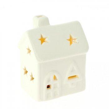 Maison Lumineuse LED N°1 (7 cm) - Porcelaine