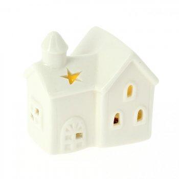 Maison Lumineuse LED N°2 (7 cm) - Porcelaine