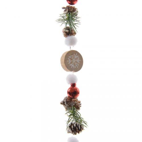 Guirlande Noël Nature et Flocons (1 m)