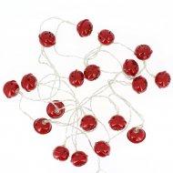 Guirlande Lumineuse LED Grelots Rouges (3,80 m)