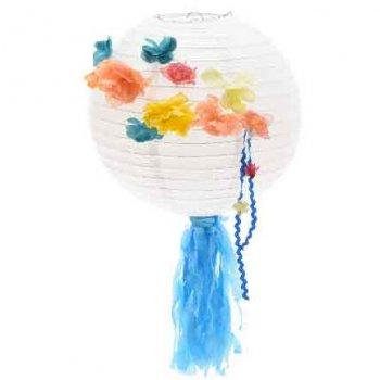 Boule Déco Summer Flower Bleu (29 cm) - Papier