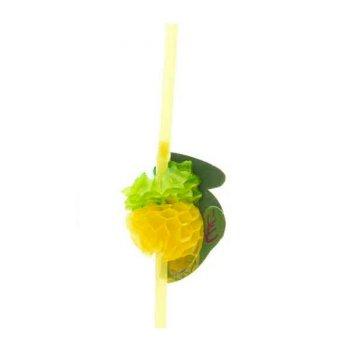 10 Pailles Ananas 3D