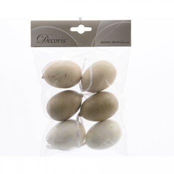 6 Suspensions Oeufs 3 Couleurs Nature (6 cm) - Plastique