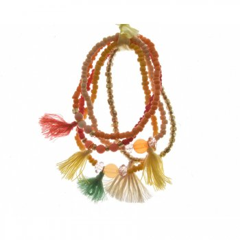 5 Bracelets Indian Summer - Harmonie Corail