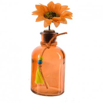 Petit Soliflore Indian Summer Orange (14 cm) - Verre