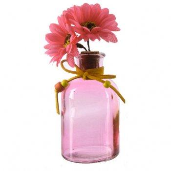 Petit Soliflore Indian Summer Rose (14 cm) - Verre