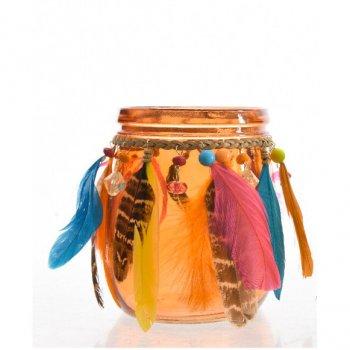 Bocal Déco Indian Summer Orange (13 cm) - Verre