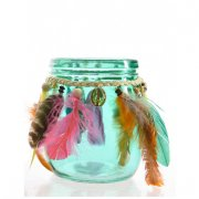 Bocal Deco Indian Summer Emeraude (13 cm) - Verre
