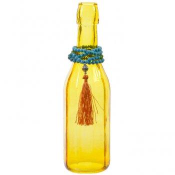 Vase Bouteille Indian Summer Jaune (26 cm) - Verre