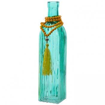 Vase Bouteille Indian Summer Bleu (26 cm) - Verre