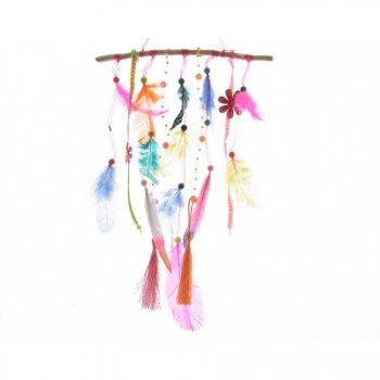 Suspension Branche Plumes et Fleurs (20 cm)