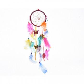 Mini Attrape Rêve Plumes et Papillons (10 cm)