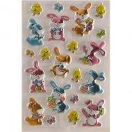 21 Stickers de Pâques Lapins et Poussins - Plastifié