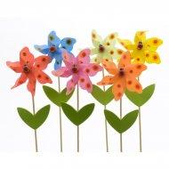 6 Moulins à Vent Fleurs (27 cm)