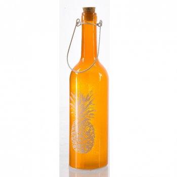 Bouteille Lumineuse LED Ananas (30 cm) - Orange