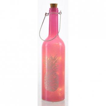 Bouteille Lumineuse LED Ananas (30 cm) - Rose