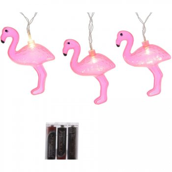 Guirlande Lumineuse 12 Flamants Roses LED (2,20 m)