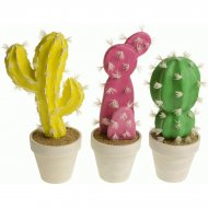 Grand cactus Pop (30 cm) - Jaune