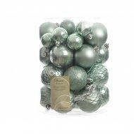Assortiment 38 Boules Noël Vert Eucalyptus