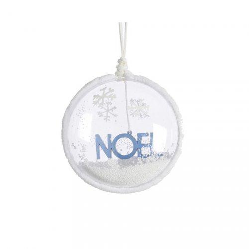 Boule Convexe Déco Noël Bleu (10 cm)