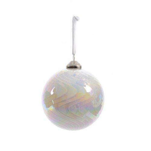 Boule Noël Bulle Nacrée (8 cm) - Verre