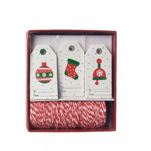 Kit Etiquettes Cadeaux Bonnet/Botte/Boule