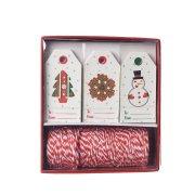 Kit Etiquettes Cadeaux Sapin/Couronne/Bonhomme de Neige
