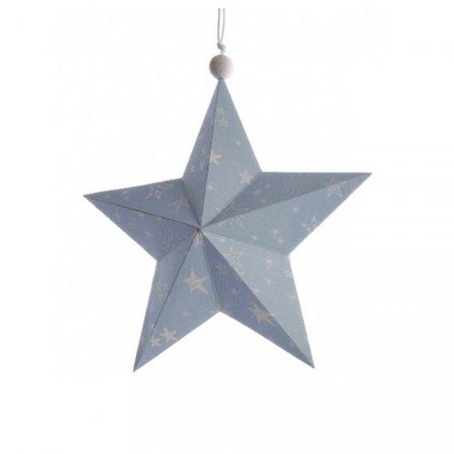 Etoile Noël Douceur Bleu ciel (14 cm) - Papier