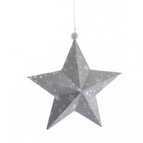 Etoile Noël Douceur Gris (14 cm) - Papier