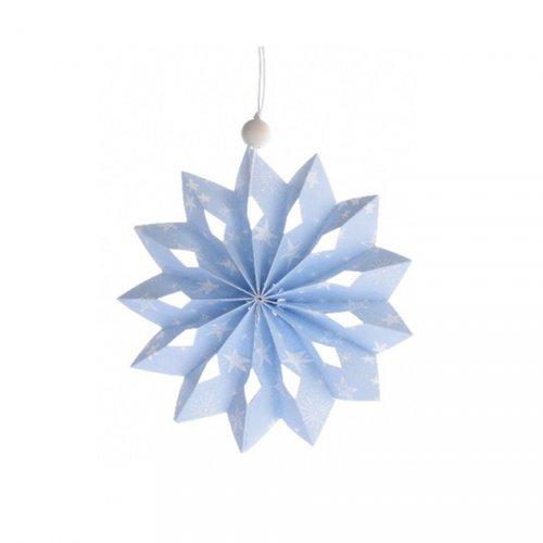 Flocon Noël Douceur Bleu Ciel (12 cm) - Papier