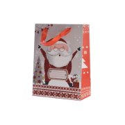 Grand Sac Cadeau Joyeux Père Noël Glitter (42 cm)