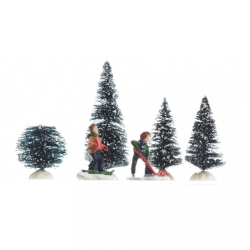 Scène de Noël Sports d hiver - 6 pièces
