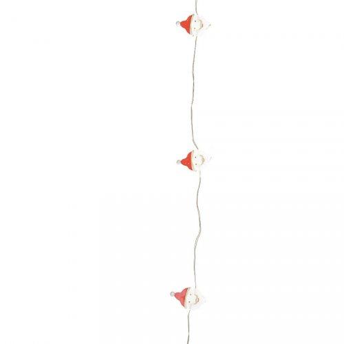 Guirlande lumineuse Père Noël 20 Micro LED (190 cm)