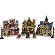 Mon petit Village de Noël lumineux LED (10 pièces)