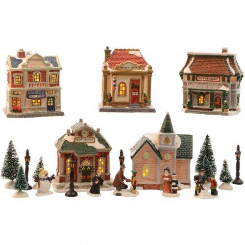 Mon grand Village de Noël lumineux LED (20 pièces)