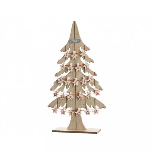 Calendrier de L Avent Sapin Etoiles (54 cm) - Bois