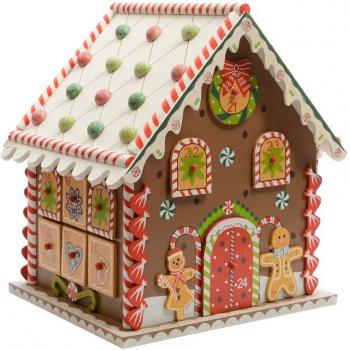 calendrier de l 39 avent maison pain d 39 epice 27 cm bois pour l 39 anniversaire de votre enfant. Black Bedroom Furniture Sets. Home Design Ideas