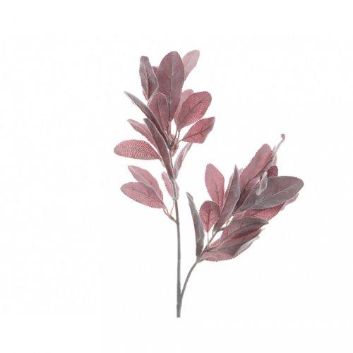 Branche Feuillage Rose Hiver (70 cm) - Tissu/Plastique